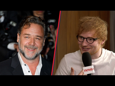 Ed Sheeran loves getting drunk with Russell Crowe