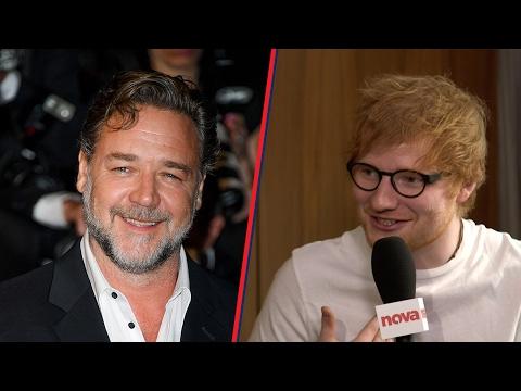 Ed Sheeran loves getting drunk with Russell Crowe