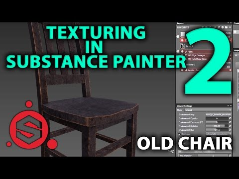 Old Chair | 3D Tutorial | Part 2. | Texturing in Substance Painter