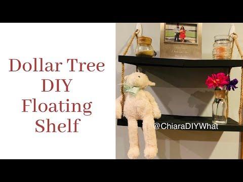 Dollar Tree DIY Floating Shelf