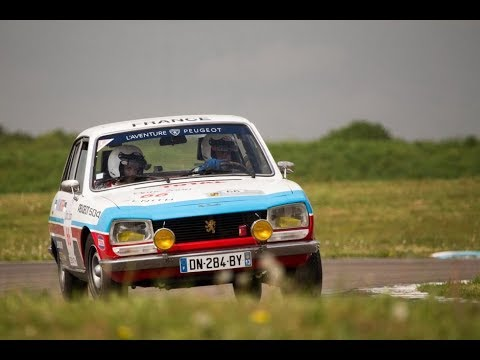 Peugeot 504 Ti On Racetrack At The Tour Auto 2018 Youtube