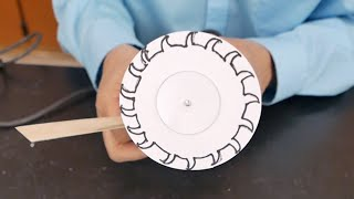 Paper Saw Blades- paper cuts paper- centrifugal force  //  Homemade Science with Bruce Yeany