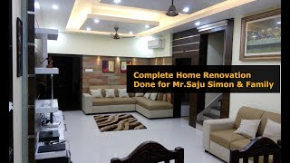 Complete Home Interior Renovation done for Mr. Saju Simon and Family