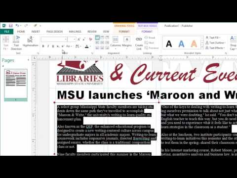 Creating Newsletters in Microsoft Publisher