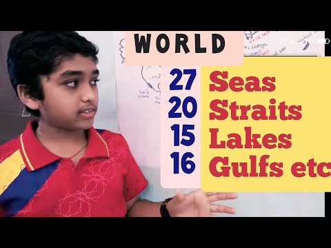 Seas Oceans Bays Gulfs Lakes Straits on the Earth: Learn wit