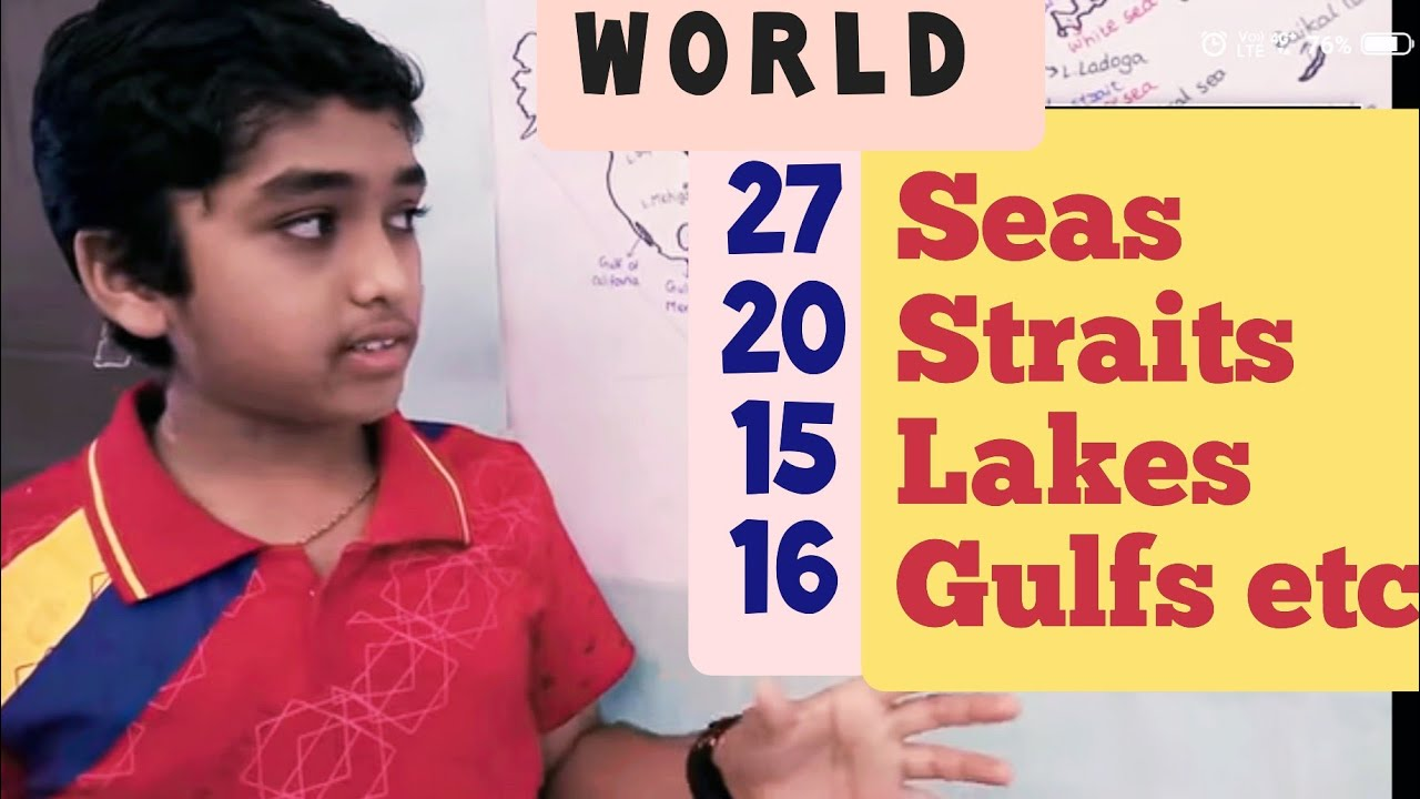 Seas Oceans Bays Gulfs Lakes Straits on the Earth Learn with Amar