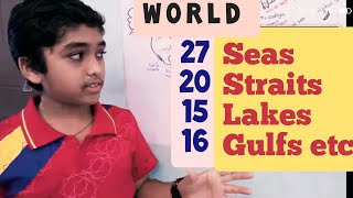 Seas Oceans Bays Gulfs Lakes Straits on the Earth: Learn with Amar