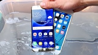 Samsung Galaxy S7 vs iPhone 6S Water Test! Actually Waterproof?(Samsung Galaxy S7 Edge Water Test vs iPhone 6S Plus Water Test! Is Galaxy S7 Actually Waterproof? Impressive Results! S7 VS iPhone 6S Drop Test HERE: ..., 2016-03-02T19:48:39.000Z)