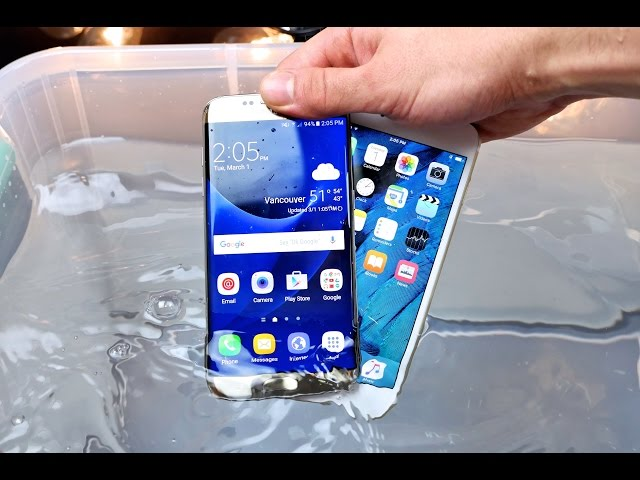Samsung Galaxy S7 S7 Edge Vs Iphone 6s 6s Plus Drop Test Waterproof Test And Bend Test Tech Times
