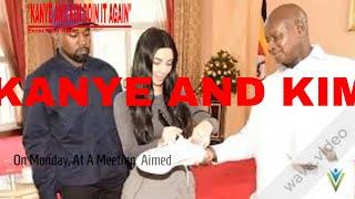 KANYE AND KIM KARDASHIAN GIVES UGANDAN LEADER SNEAKERS!!!