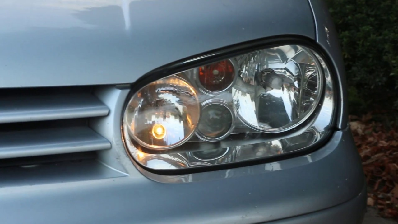 Vw Golf Bora How To Change Fit New H7 Headlight Bulb