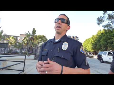 Long Beach Police Dept: COP FAILS, FORCED TO RETREAT, 1st Amend Audit w CA Guardian