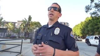 Long Beach Police Dept: COP FAILS, FORCED TO RETREAT, 1st Amend Audit w CA Guardian
