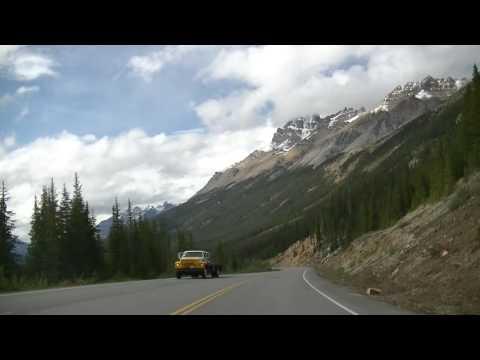 Driving in Jasper Alberta Canada - National Park - Rocky Mountains - Amazing Scenery