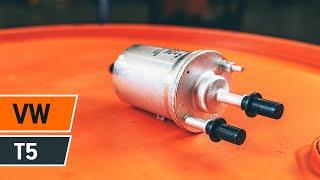 Kuinka vaihtaa polttoainesuodatin VOLKSWAGEN T5 -merkkiseen autoon OHJEVIDEO | AUTODOC