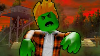 He Turned Into A Zombie: A Sad Roblox Zombie Outbreak Movie