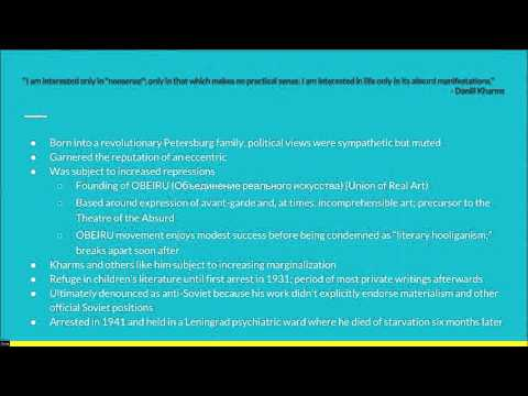 A talk about Daniil Kharms