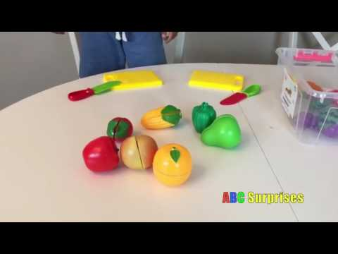 Velcro Food Toy Learn Names Of Fruits And Vegetables
