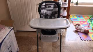 Chicco Polly Space Saving Fold Highchair - Unboxing and review