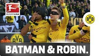 Aubameyang & Reus Celebrate as Batman & Robin