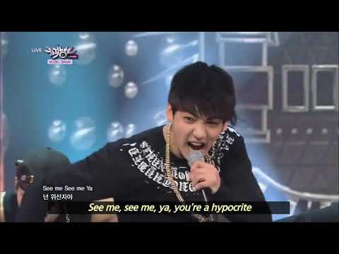 BTS - We Are Bulletproof Pt. 2 & No More Dream (2013.06.29) [Music Bank W/ Eng Lyrics]