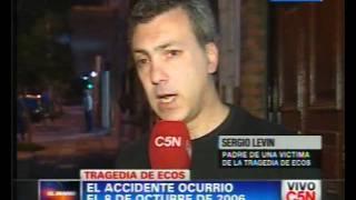 C5N - SOCIEDAD: CONDENARON AL CHOFER DE LA TRAGEDIA ECOS | SERGIO LEVIN, PADRE