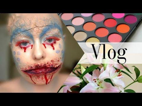 VLOG: Pierwszy daily vlog, morphe 35b palette i makijaż na Halloween II PS Vlogs