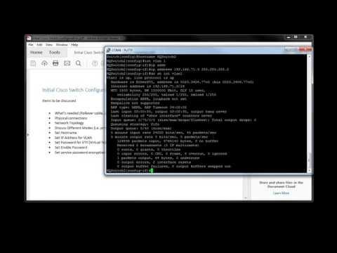 Basic Initial Cisco Switch Configuration