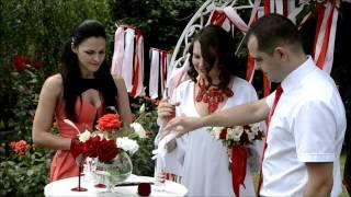 Выездная церемония в красном цвете Кривой Рог. Оформление свадьбы, агентство Крутая свадьба