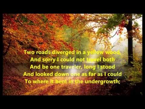 THE ROAD NOT TAKEN Song & Poem Robert Frost words sing along song songs