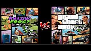 Gta 5  vs  Amazing Frog (Outro vídeo que eu inutilizo meu tempo)