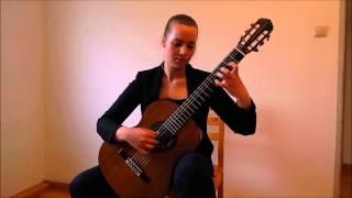 BWV 1007 Allemande,Nicole Krueger-Guitar/Double top by Reza Safavian