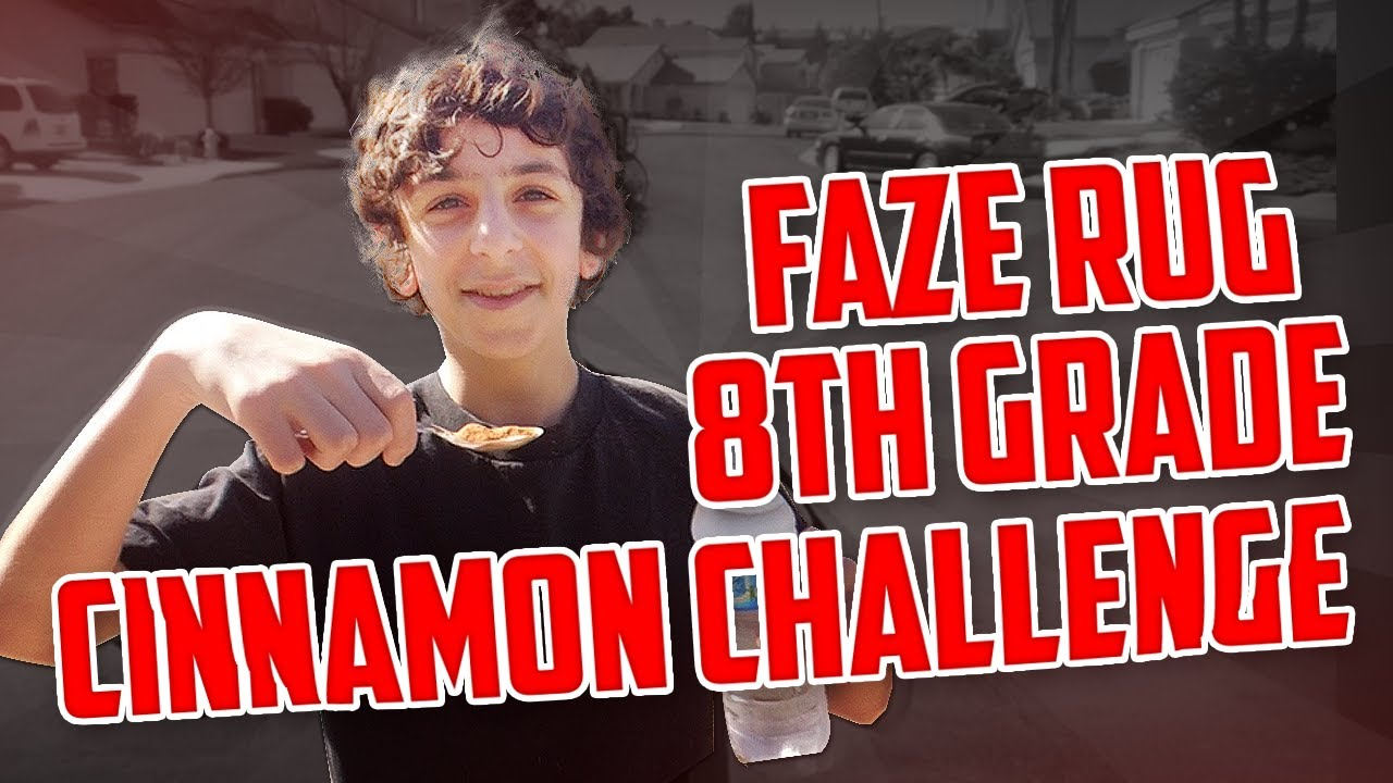 Faze Rug 8th Grade Cinnamon Challenge Faze Rug Youtube