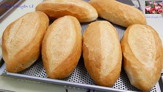 BÁNH MÌ VIỆT NAM - Cách làm cấp tốc KHÔNG Phụ gia - Bánh Mì Vỏ mỏng giòn và rỗng ruột by Vanh Khuyen