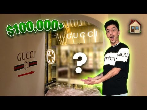 I Built a GUCCI STORE Inside of my HOUSE!! **INSANE**