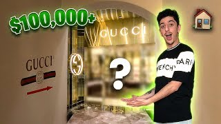 I Built a GUCCI STORE Inside of my HOUSE!! INSANE