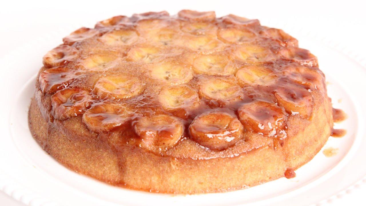 Bananas Foster Upside Down Cake Recipe - Laura Vitale - Laur..