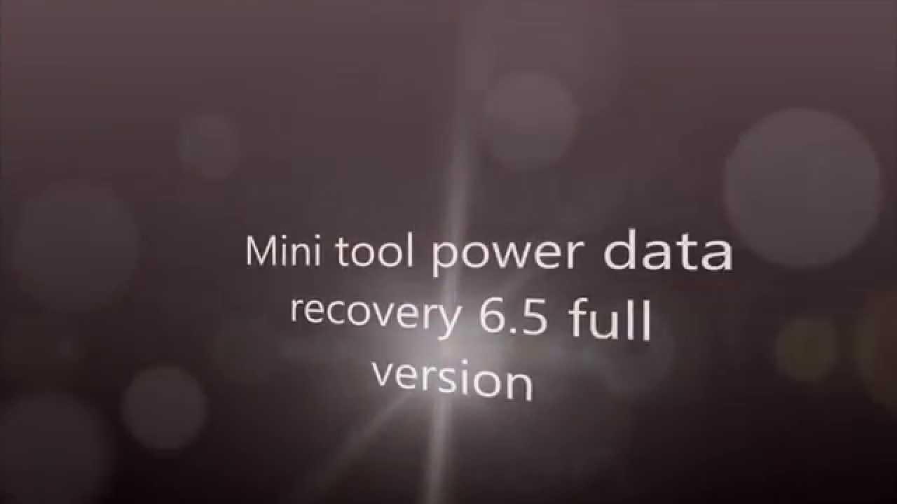 minitool power data recovery version 7