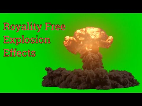 """Bomb Explosion"" green screen effects compilation ""Royality Free"""
