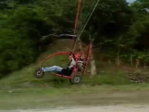 paratrike paramotor casero primer vuelo made in colombia