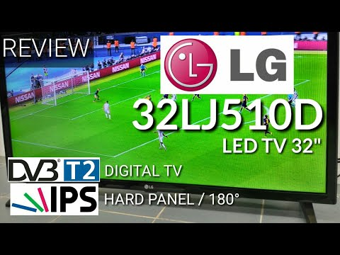 Review LED TV LG 32LJ510D Digital TV New 2017 indonesia | HD