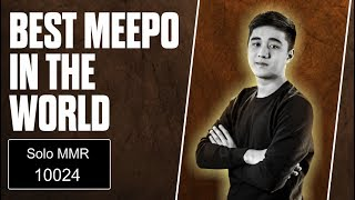 BEST MEEPO - Abed Meepo Solo MMR 10024 Epic Control - Top Pro Player Dota 2