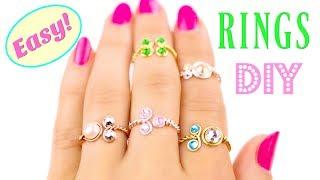 Easy DIY Rings With Stones! Adjustable Rings DIY