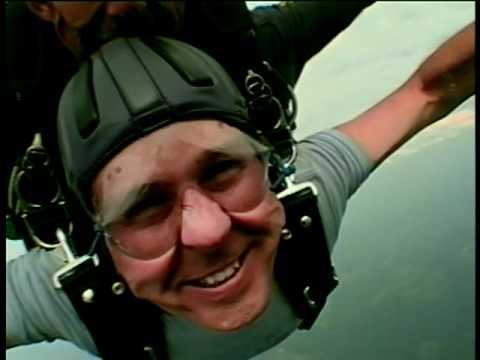 Jack Barnett skydiving for the first time