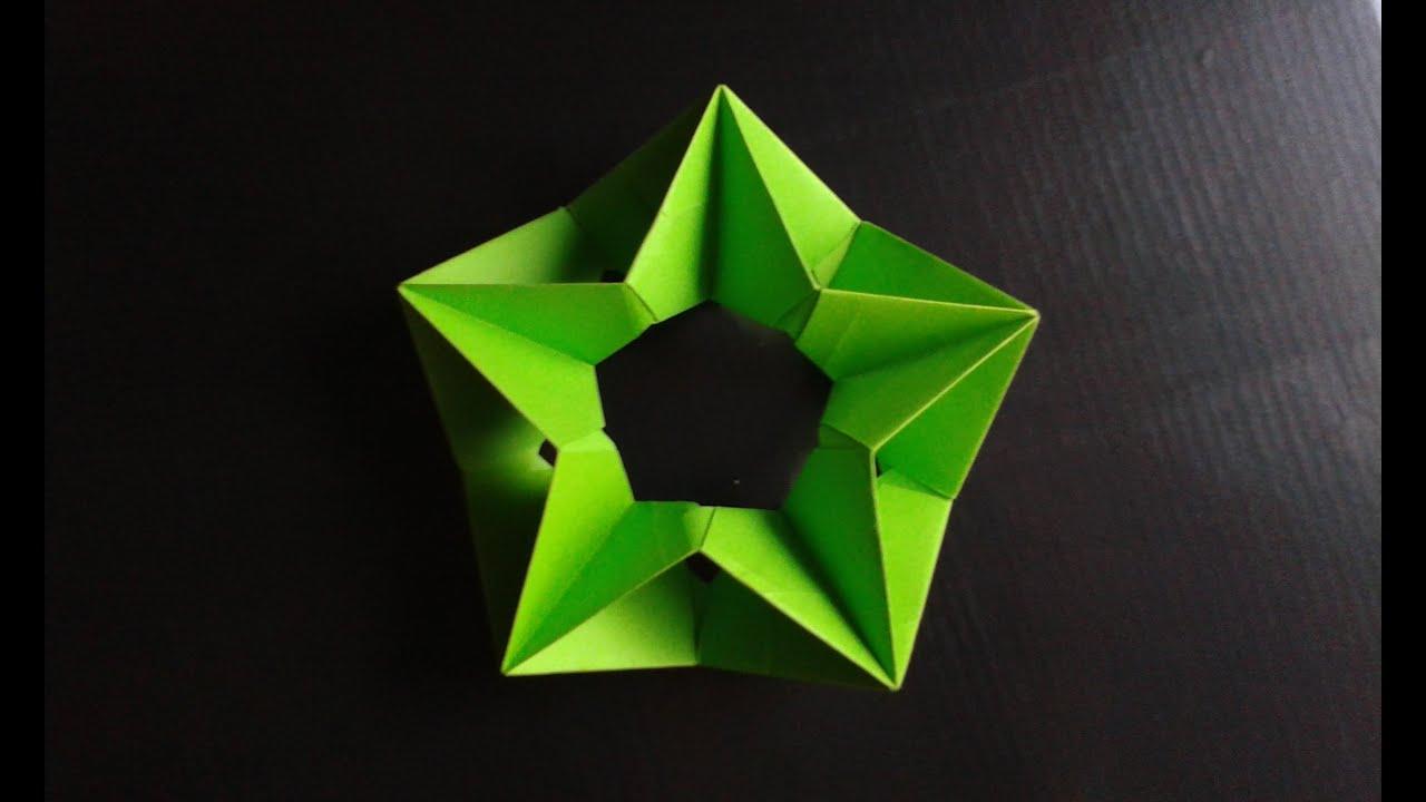 Modular Origami star - YouTube
