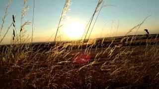 Sunset over fields in Czechia...