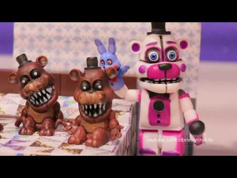 Five Nights at Freddy's Toys Nightmare Freddy Turns Into Funtime Freddy for Circus Baby to Like Him