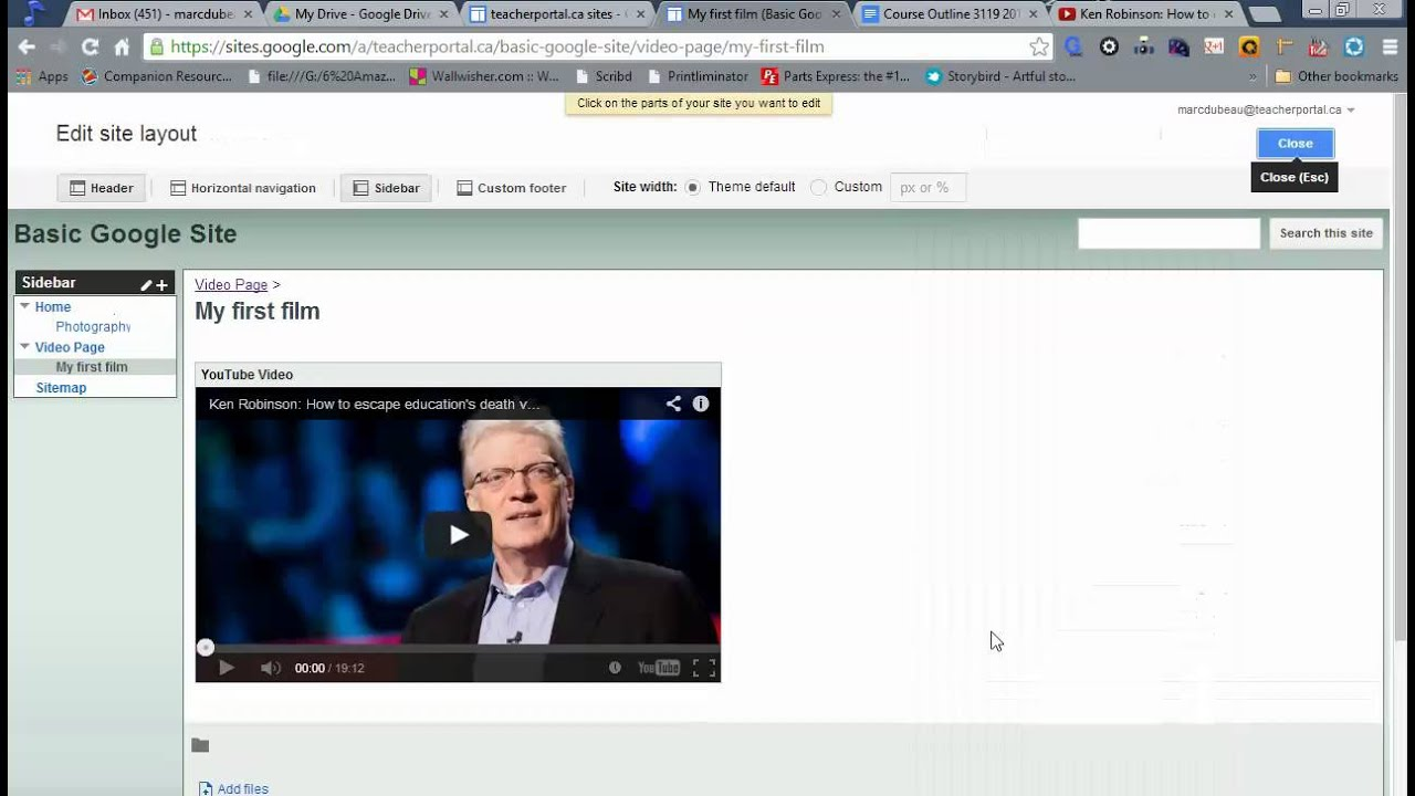 How To Edit Navigation Bars And Create A Vertical Navigation Bar In Google  Sites 2014