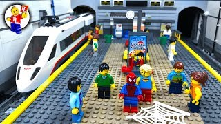 Lego Spider-Man in METRO 🚇 Adventure of Superhero - Stop Motion Animation