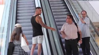 Touching Strangers Hands On The Escalator!